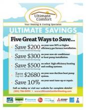 Ultimate Comfort Heating Flyer