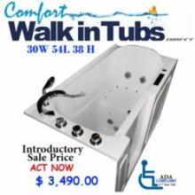 Installation of Walk in Bathtubs for Veterans