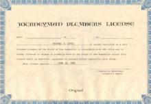 Plumbers License
