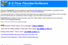 PlumberSoft E-Z Flow Plumbing Software