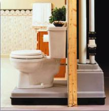 Installing An Up Flush System In The Basement Usa Plumbing